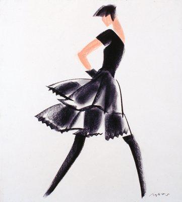Black Flounced Skirt