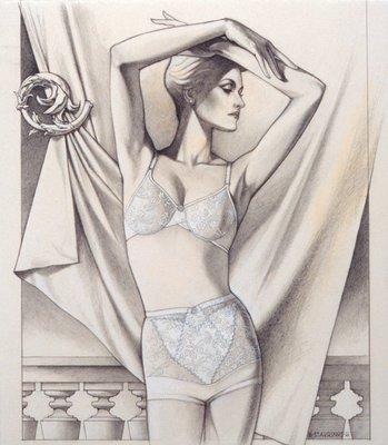 Female Figure in Foundation Garments