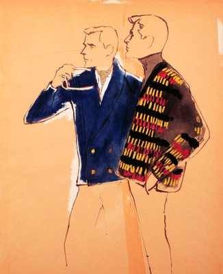 Two Male Figures in Sweaters