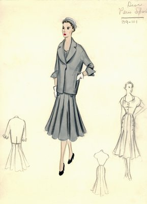 Dior dress with jacket