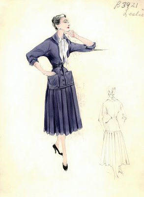 Leslie Morris blue day dress