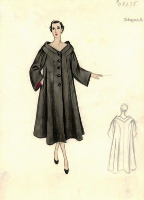 Schiaparelli black swing coat