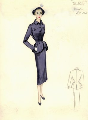 Dior blue suit