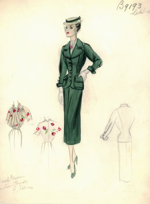Leslie Morris green suit