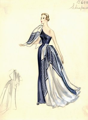Schiaparelli evening gown