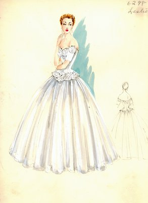 Leslie Morris evening gown