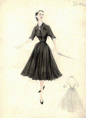 Dior black day dress