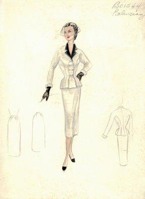 Balenciaga  off-white suit