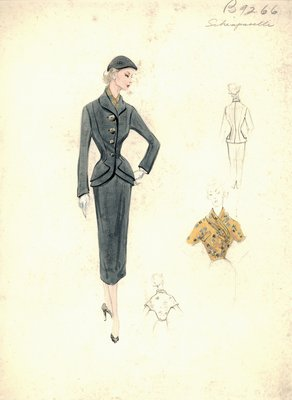 Schiaparelli gray suit
