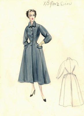 Dior gray coat