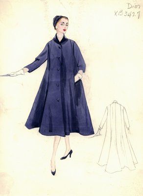 Dior blue coat with shawl collar