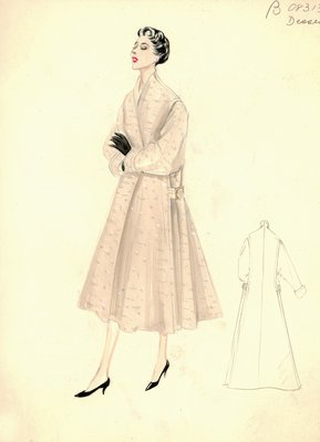 Jean Dessès beige coat