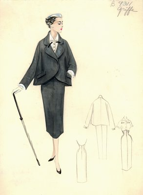 Jacques Griffe gray suit