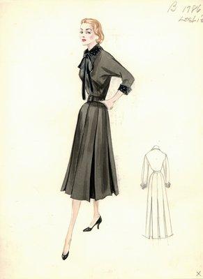 Leslie Morris black day dress