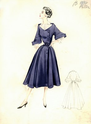 House of Patou blue day dress
