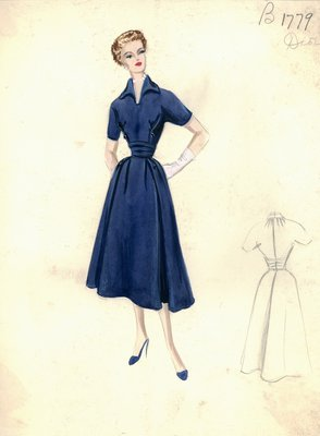 Dior blue day dress