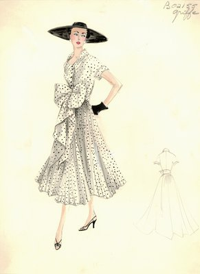 Jacques Griffe polka dot day dress