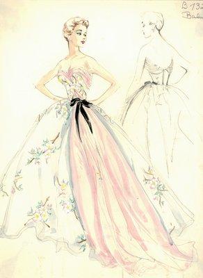 Balmain strapless evening gown