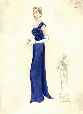 Dior navy evening gown