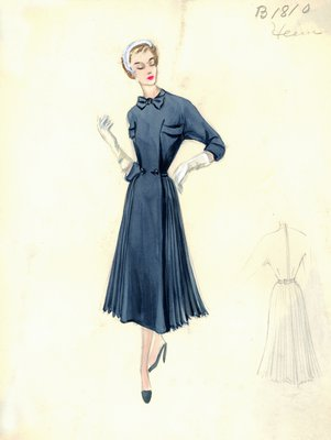 Jacques Heim blue dress