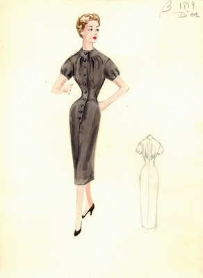 Dior brown day dress