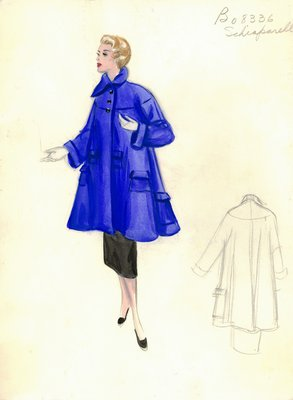 Schiaparelli blue coat