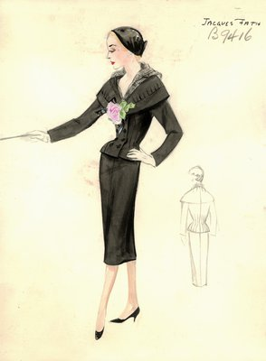 Jacques Fath black suit
