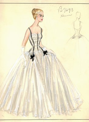 Jacques Heim white evening gown