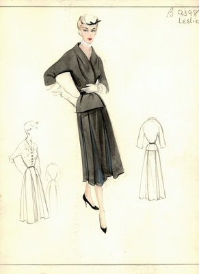 Leslie Morris black day dress