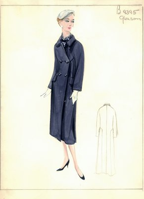 Mary Gleason blue Chesterfield coat