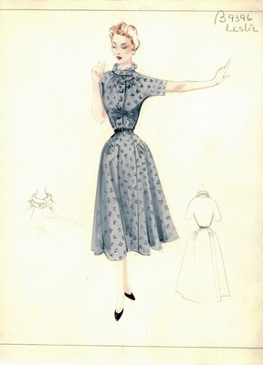 Leslie Morris gray day dress