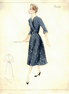Jacques Fath polka-dot day dress