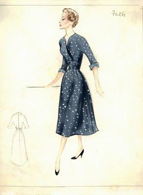 Jacques Fath polka-dot day dress