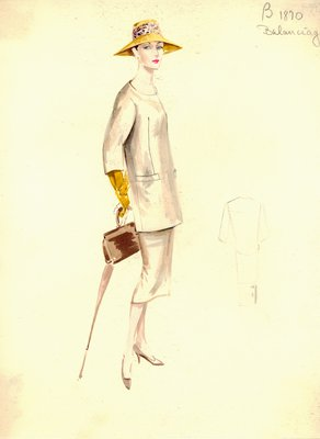 Balenciaga beige suit