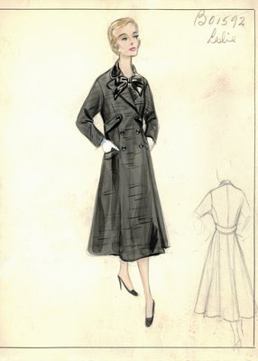 Leslie Morris black coat