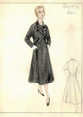 Leslie Morris black coat