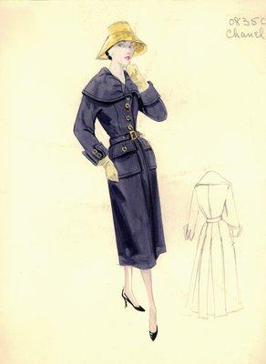 Chanel blue coat