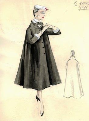 Alix Grès black coat