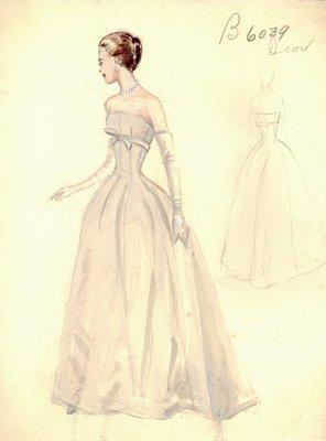 Dior strapless evening gown