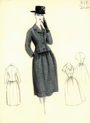 Dior gray tweed dress