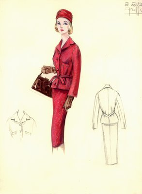 Jacques Griffe red suit