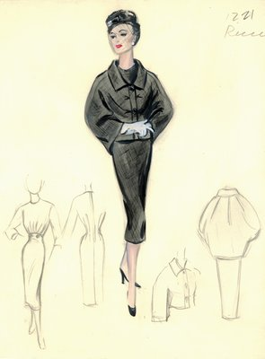 Nina Ricci black dress with jacket