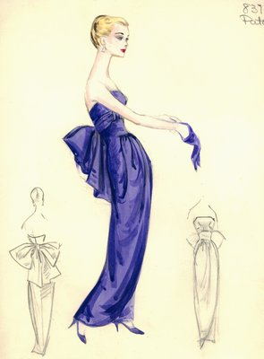 House of Patou lavender evening gown