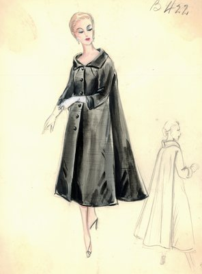 Leslie Morris black evening coat
