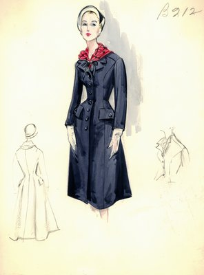 Leslie Morris navy blue coat