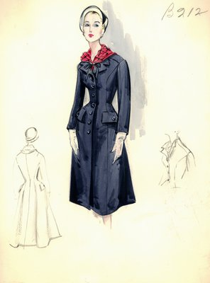 Leslie Morris navy blue coat