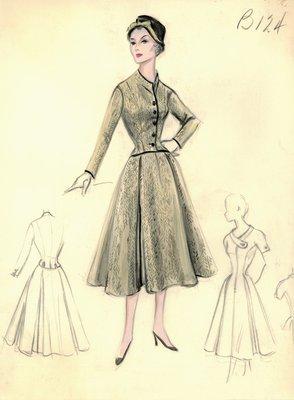 Leslie Morris day dress with jacket