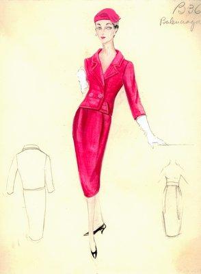Balenciaga coral suit