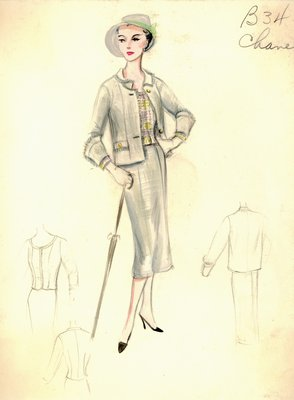 Chanel gray suit
