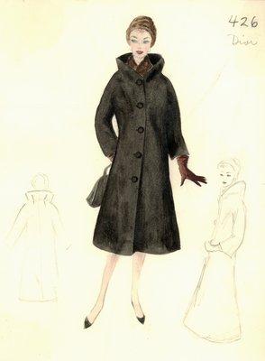 Dior black coat